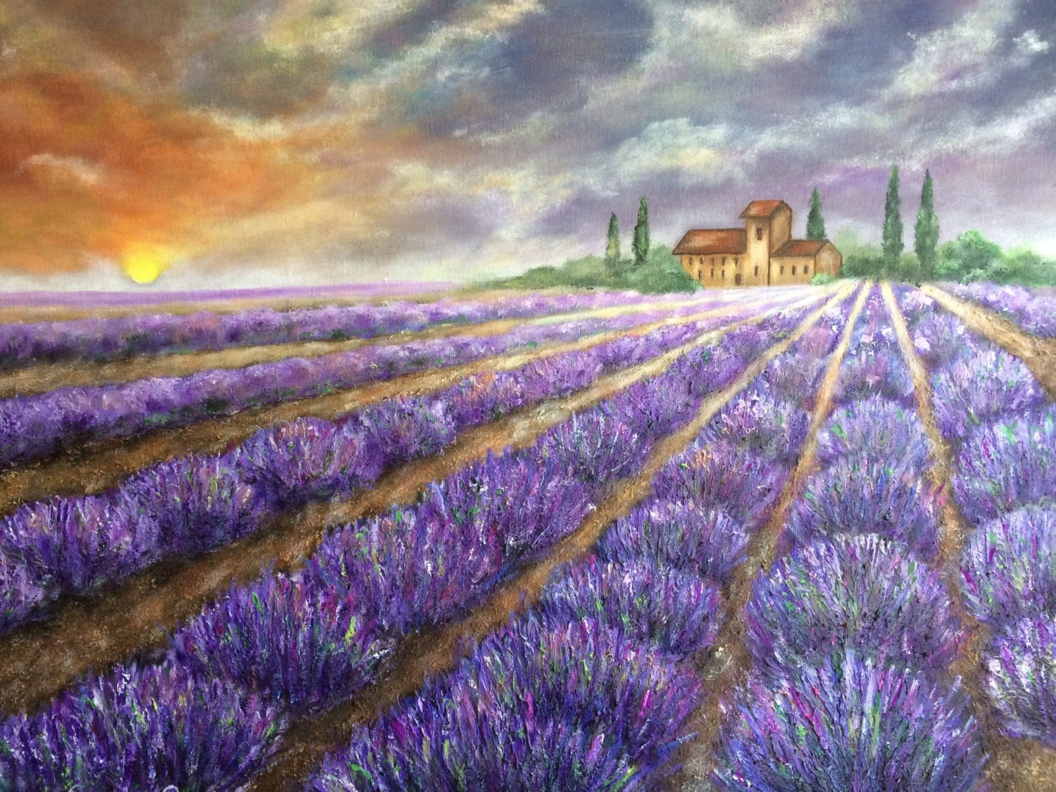lavender painting - photo #26