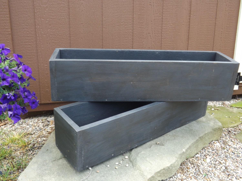 dark distressed outdoor planter boxes window planter flower. Black Bedroom Furniture Sets. Home Design Ideas