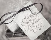 """PDF Download - """"Sending You S'more Love"""" typography + template for wedding favors"""