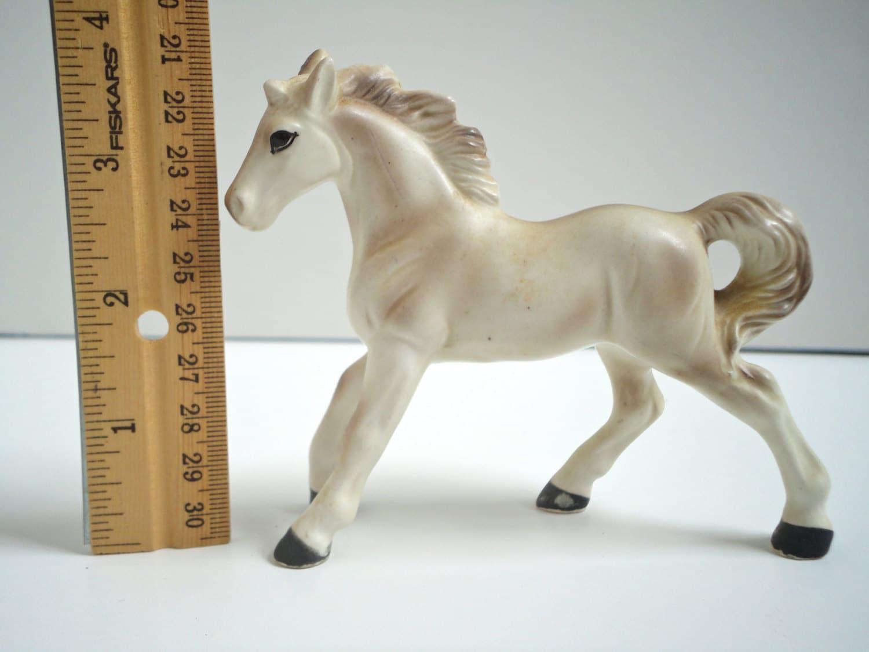 Vintage Porcelain Horse Figurine White By Historicalvintage