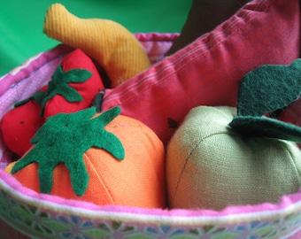 fruit basket MADE of CLOTH