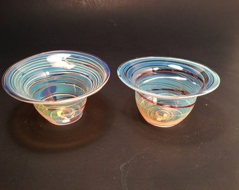 Hand Blown Tea Light Candle Holders