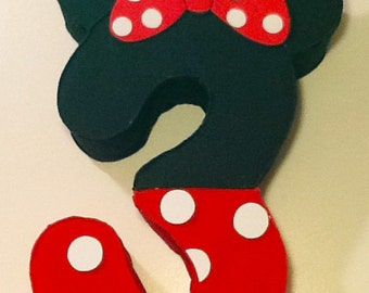 Minnie mouse Number Pinata, minnie mouse Party decoration, minnie mouse red, 1st birthday minnie mouse, minnie mouse birthday party,