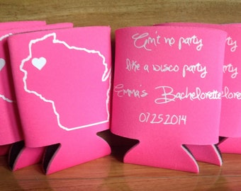 Koozies with Heart,  it marks the spot of your Bachelor/ Bachelorette fun!
