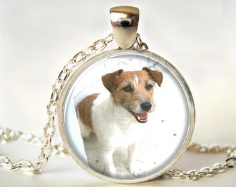 Jack Russel Art Pendant,  Necklace, Jewelry,  Picture Pendant, Gift, Print (2012)