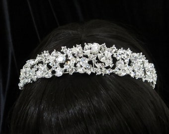 Bridal headband, Wedding headpiece, Rhinestone headband, Bridal Tiara, Gold headband, Crystal headpiece, Wedding hair accessory, Vintage