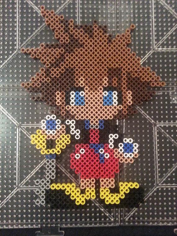 Sora Perler Bead Figure Kingdom Hearts by AshMoonDesigns ...