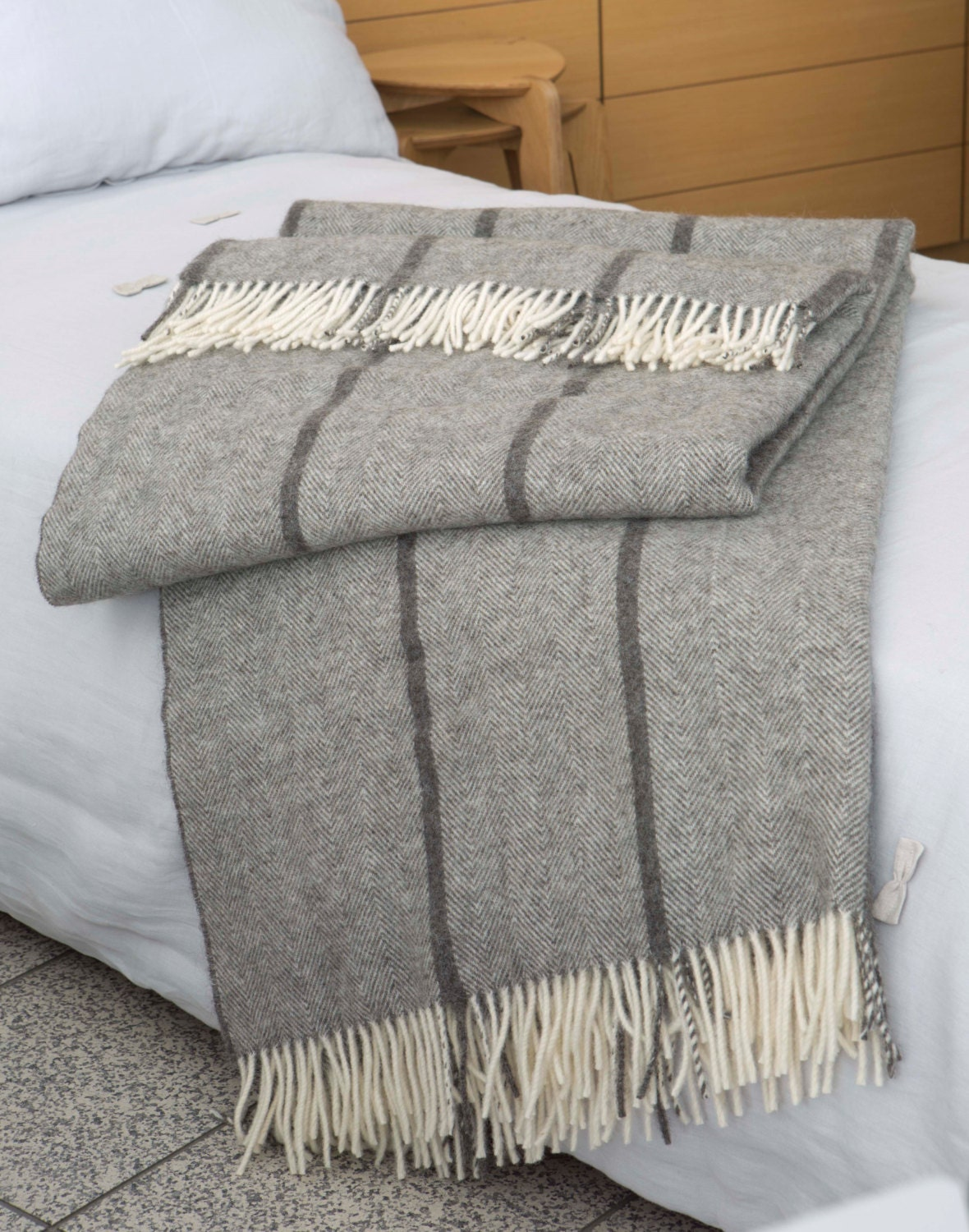 extra large throw king size wool blanket bed throw by boteh. Black Bedroom Furniture Sets. Home Design Ideas