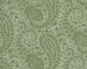 Prayer Flag Tonal Paisley in Grass Green by April Cornell