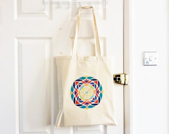Tote Bag/ Canvas Bag/ Cotton Bag/ Eid Gift/ Islamic Art/ Ethnic Geometric/ Islamic Pattern / Eastern Design/ Fabric Bag