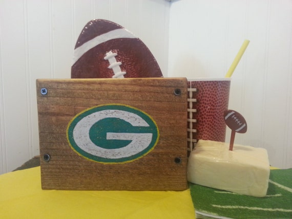 Green Bay Packers Wooden Box Cheesehead Approved Lambeau