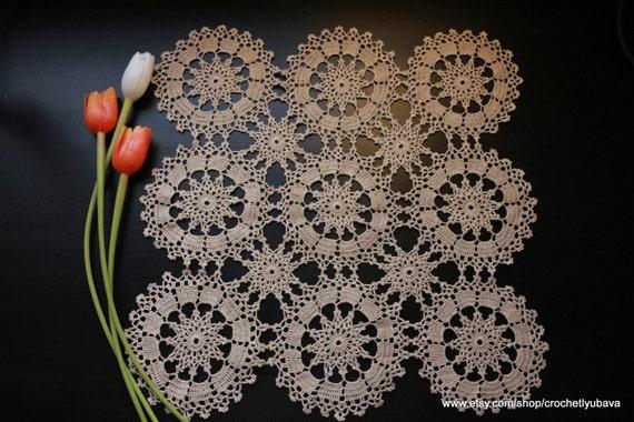 Quadrati crochet doily cipro uncinetto di crochetedbylyubava