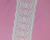 """Embroidery Lace 3 """"wide cotton tape  for waist belt Embroidery Lace HD0417002"""