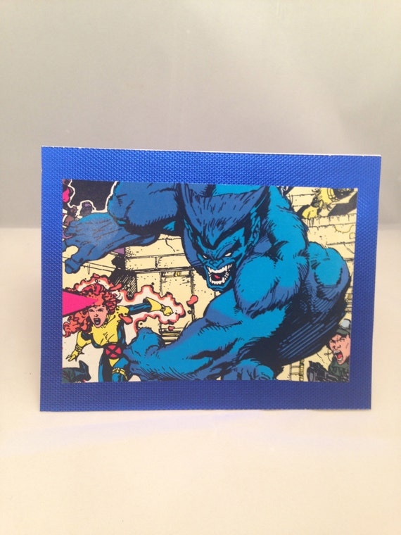X Men Birthday Cards ~ Beast men greeting card by mikespopartifacts on etsy