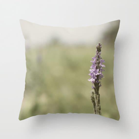 Wildflower Pillow, Nature Home Decor, Purple Flower, Pillow Cover, Iowa Art, Neutral colors, Green Tones, Indoor Outdoor, Prairie Photograph