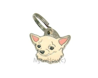 MJAVHOV Custom engraved pet tag CHIHUAHUA