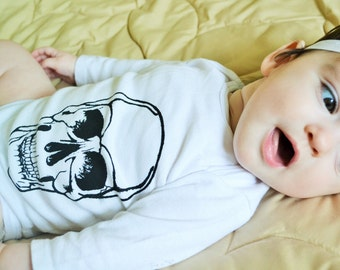 Screen Printed Skull Onsie