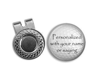 Custom Golf Ball Marker and Hat Clip Set - Customized Golfball Marker - Golfing Gift - Gift for golfer - Personalized Golfing Gift for Dad