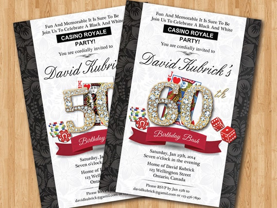 Casino Royale Invitation with best invitations layout