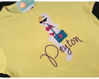 Beach Bunny Shirt with Embroidered Name