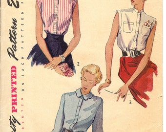 Simplicity 3092 Sewing Pattern  1930's Misses' Blouse   Size16    ID561