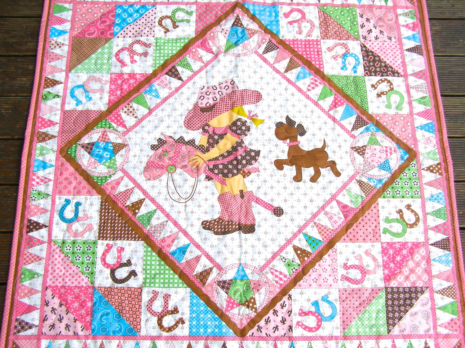 Cowgirl Quilt Baby Girl Quilt Baby Girl Bedding Baby Girl