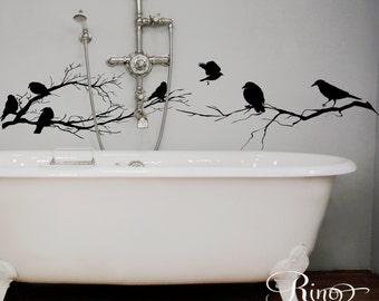 Birds Branch tree Wall Decal Vinyl sticker home decor