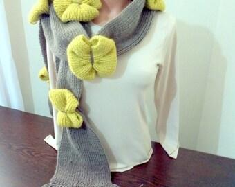 Hand Knitted Women's Fiyonk Scraf