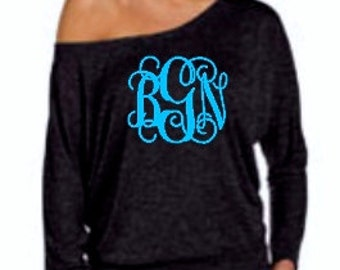 Monogram Doloman Top, Monogram Shirt, Monogram Top