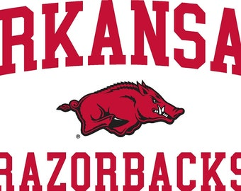 Arkansas Razorbacks  Decals