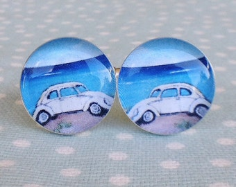 VW Beetle Cufflinks, Volkswagen, vw Cufflinks, vw car.