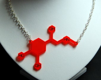 Acrylic Adrenaline Molecule Necklace