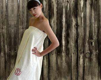 bridesmaid towel wrap - bridesmaids bath wraps - wedding towel - monogram towel wrap - bridesmaid towels - personalized bath robe