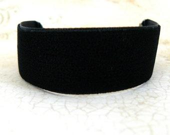 Black Velvet Bracelet Goth Black Velvet Ribbon Cuff Gothic Jewelry Vintage Inspired Gothic Lolita Bracelet