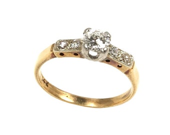 0.40 ct. Diamond Milgrain Ring - 6 US