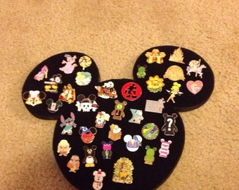 Disney Icon Mickey Mouse large pin display board holder. Can hold lot of 45