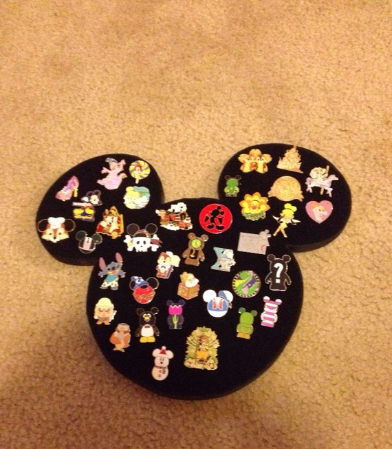 Disney icon mickey mouse large pin display board holder can for Cork board pin display