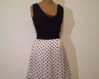 Handmade black and white dress
