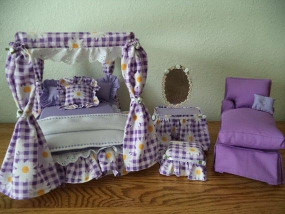 barbie doll purple bedroom set