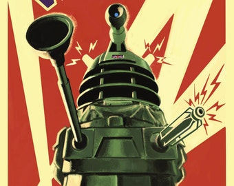 "Doctor Who UK Imported 17"" X 11"" Dalek ""To Victory"" Poster Print"