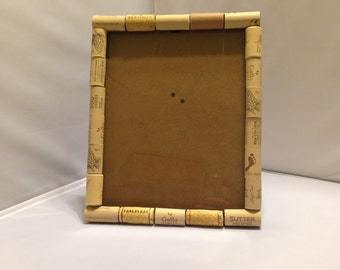 handmade wine cork frame 8x10 - Wine Cork Picture Frame