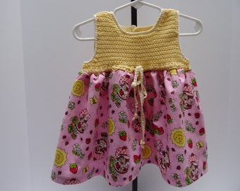 Sale! Yellow, Pink and Red Strawberry Shortcake Sundress