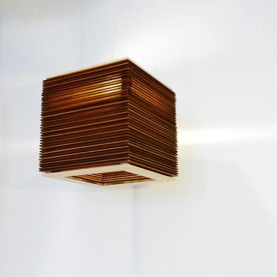 Laser Cut Stacked Cardboard Lamp 12 X 12 X