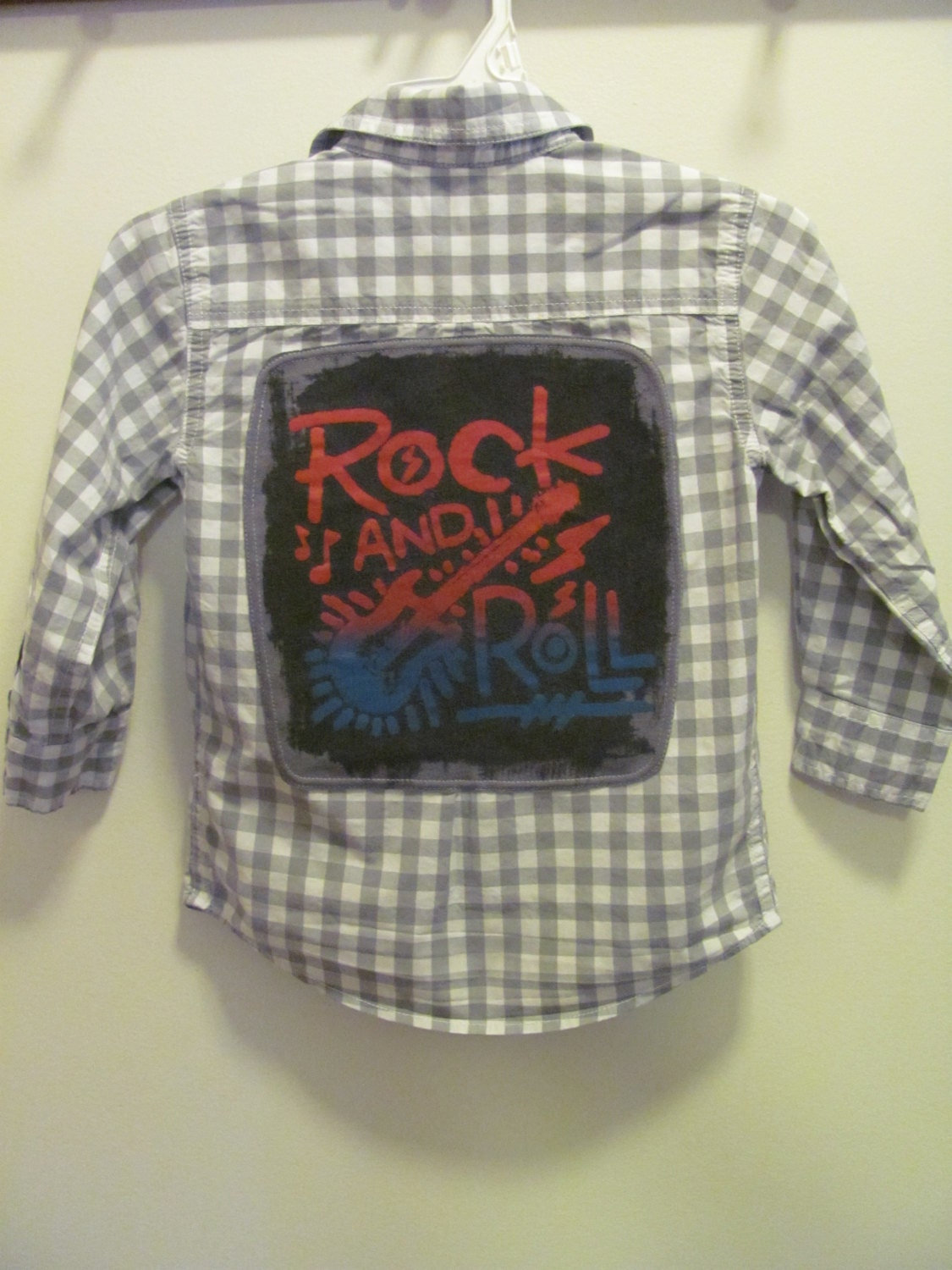 Upcycled Boy 39 S Rock And Roll Dress Shirt By