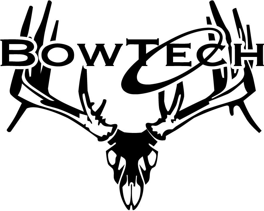 bowtech whitetail deer skull hunting decal car truck window