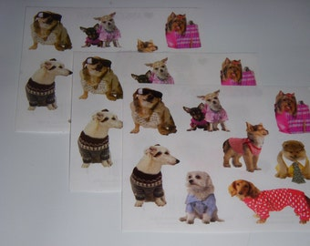 Dog stickers Pampered Pups by Mrs Grossman scrapbook stickers dogs in clothes sticker lot