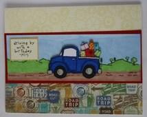 Birthday Pickup Truck Card, Adult birthday card, Truck birthday card, Kids Birthday Card, Boys Birthday Card