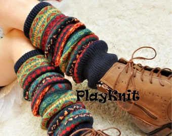 Womens Leg Warmers Knit Boot Socks Christmas Gift