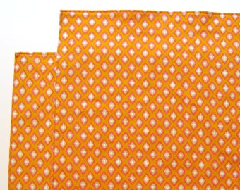 Large Cloth Placemats - Set of 2 - Ikat Orange Diamonds -  Reversible