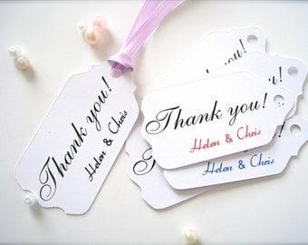 Wedding favor tags, gift tags, thank you tags, party favor tags